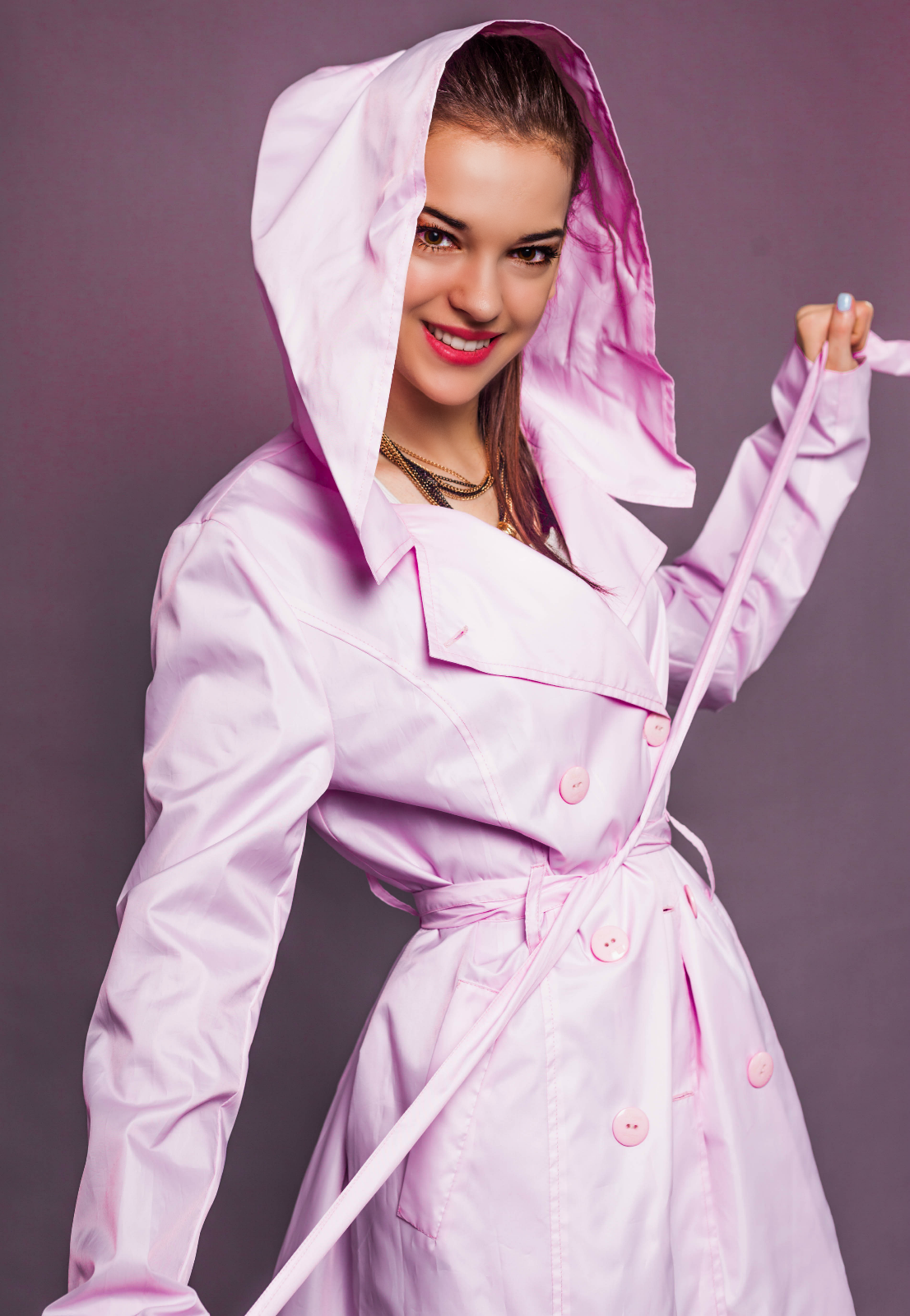 Women raincoat - lilac