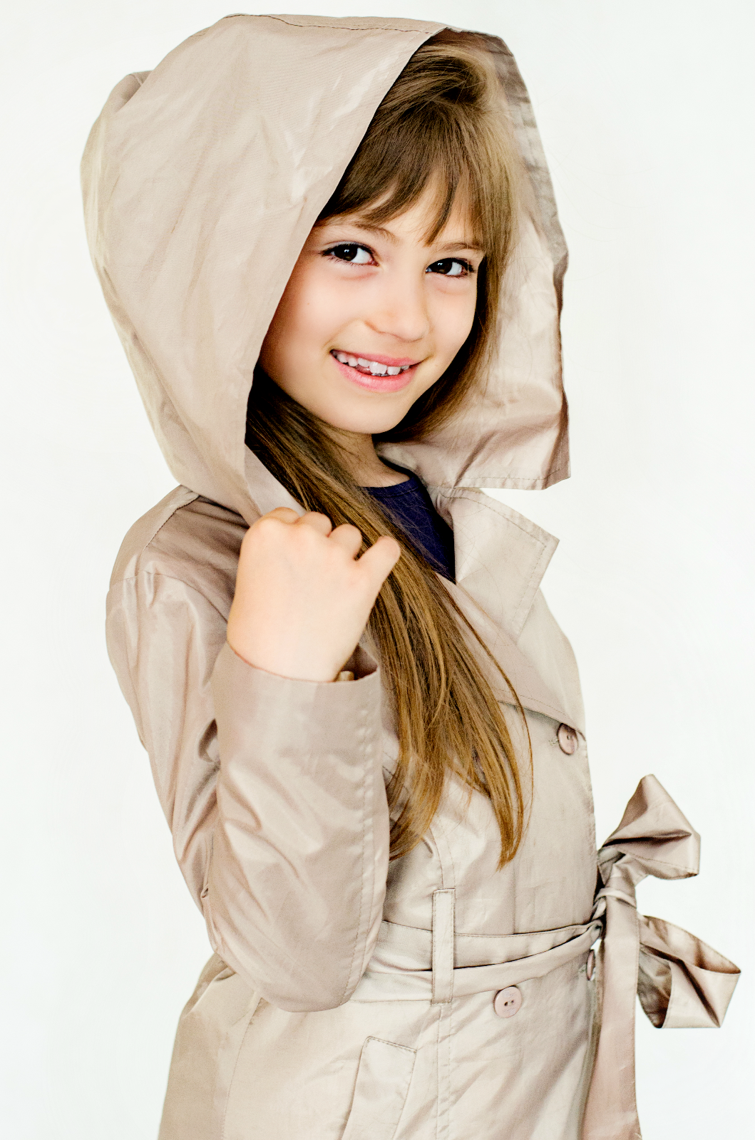 Girlish raincoat - beige