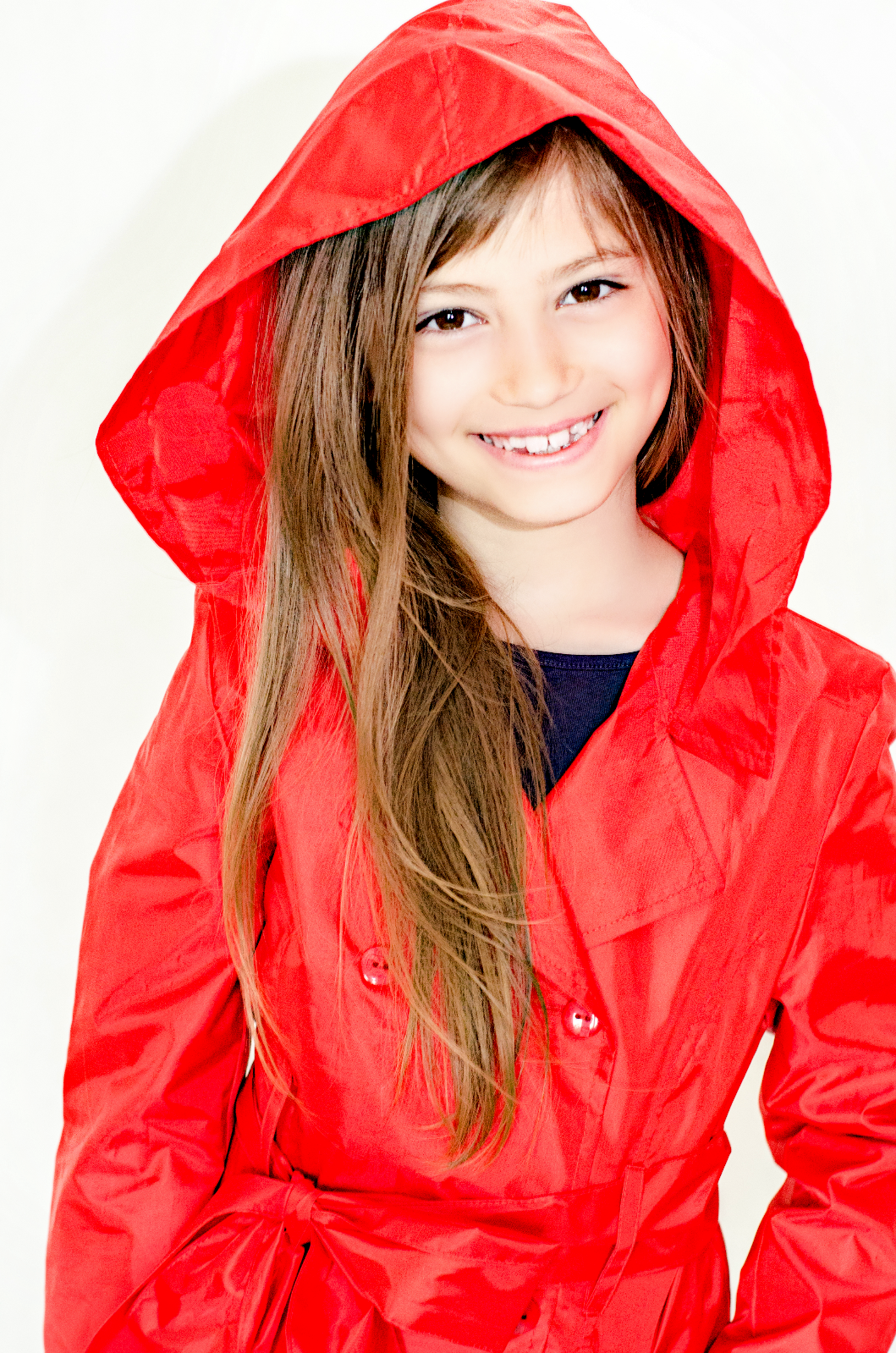Girlish raincoat - red
