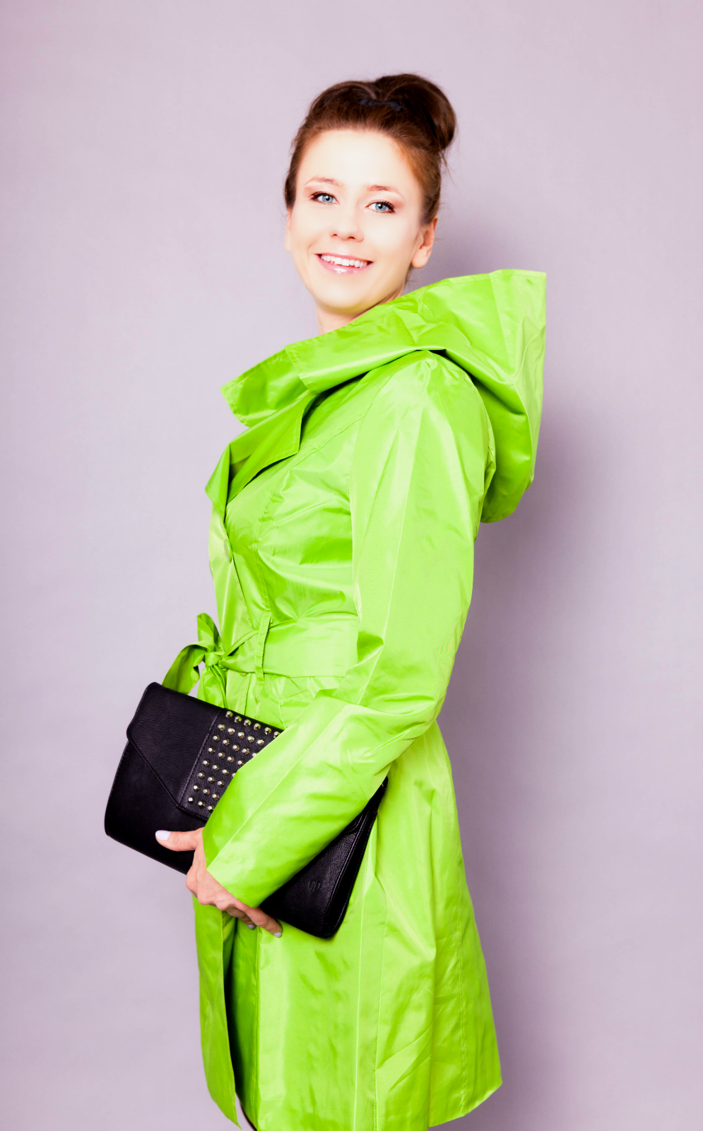 Women raincoat - green