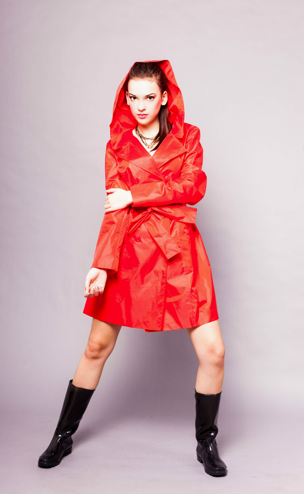 Women raincoat - red