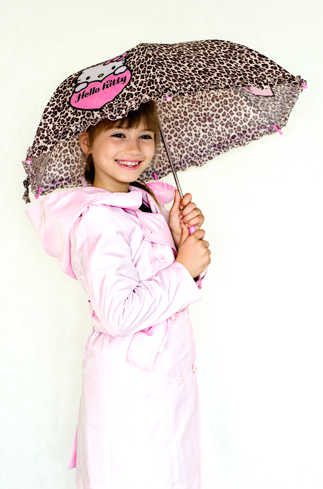 Girlish raincoat - lilac