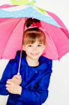 Girlish raincoat - navy