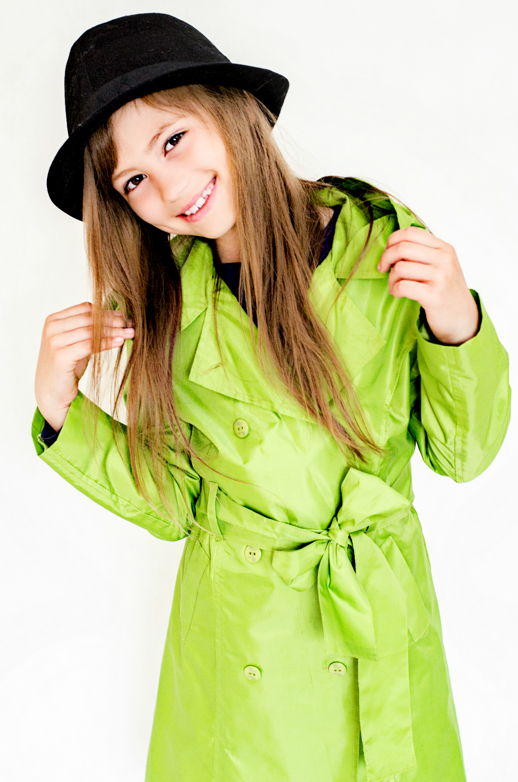 Girlish raincoat - green